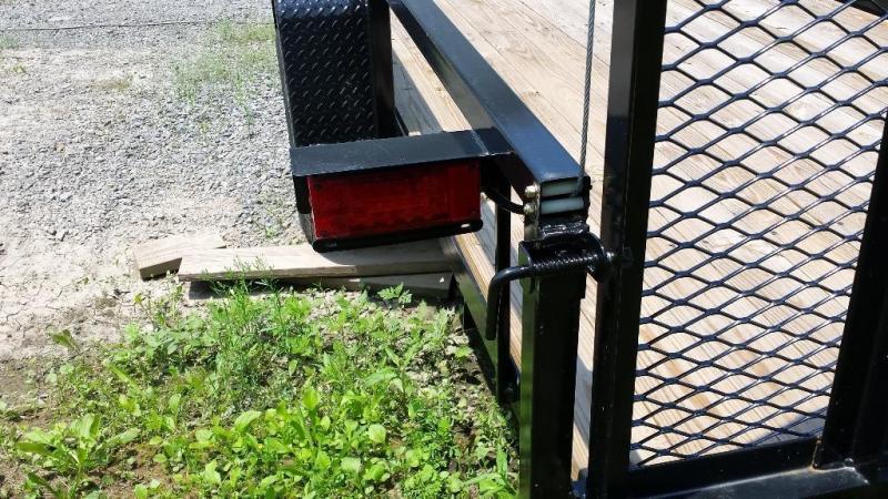 2016 Holmes commercial 6-4x14 utility trailer -LED -5k -open rails