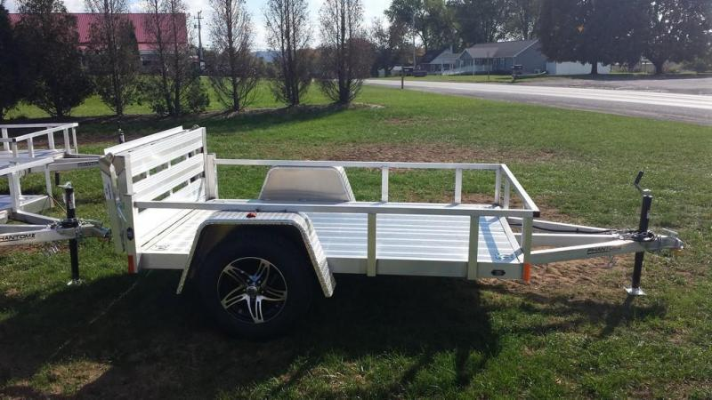 2019 Stealth Trailers 5x8 Alum Open Deck Rail Utility Trailer