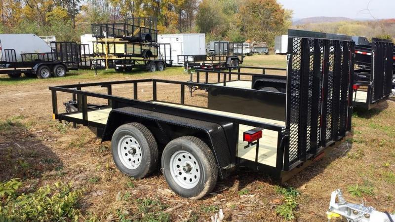 2019 Holmes 6-10x12 Commercial Open Side Rail Utility Trailer