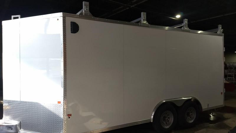 2019 Mission 8x16 10k all aluminum Enclosed Contractor Trailer in Ashburn, VA