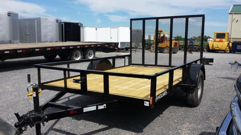 2018 Holmes 6-4x10 Open Side Rail Utility Trailer