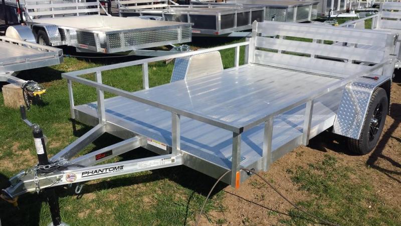 2020 Stealth Trailers 6-5x10 Alum Open Deck Rail Utility Trailer