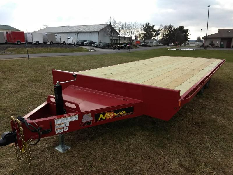 2019 Midsota 8-5x20 Nova Wood Deckover 10K Flatbed Trailer