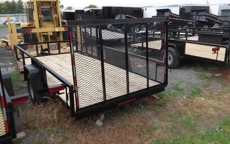 2018 Holmes 6-4x14 Commercial Rail Side w/ Side Gate Utility Trailer