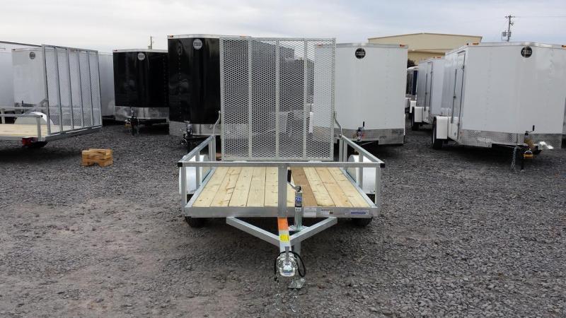 2018 Load Rite 5x8 Galvanized Open Side Utility Trailer