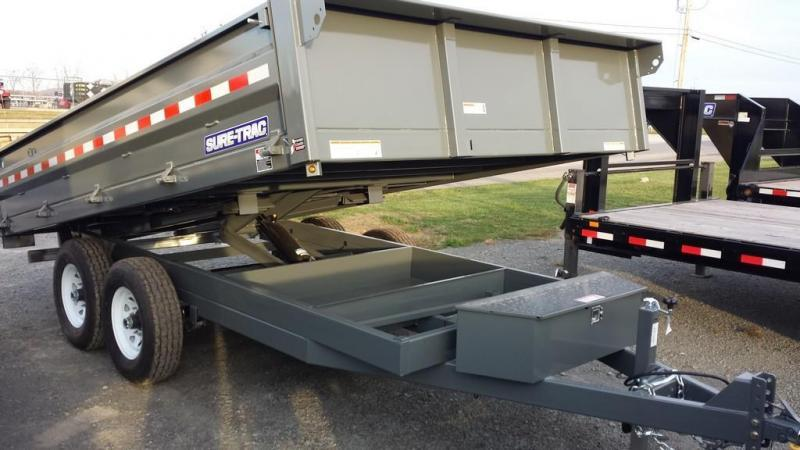 2018 Sure-Trac 8x14 Deckover Dump Trailer in Ashburn, VA
