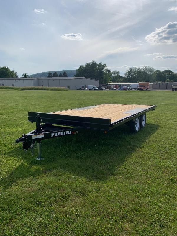 2019 Premier Trailers Inc. 8x16 7k Deckover Flatbed Trailer