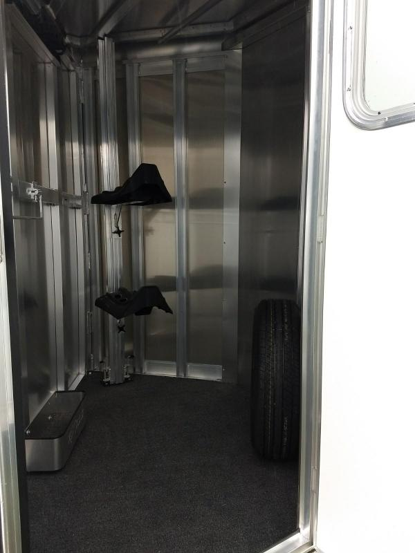 2019 Exiss Trailers Express 2H BP-SS Horse Trailer
