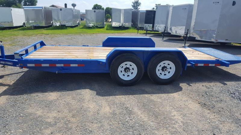 2018 Sure-Trac 7x18 tilt equipment trailer -14k -LED in Winnisquam, NH