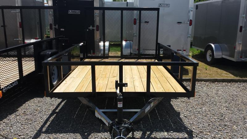 2019 Holmes 6-4x10 Commercial Open Side Rail Utility Trailer