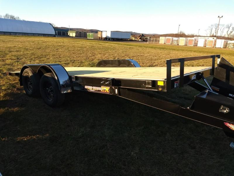 2019 H and H Trailer 7x18 7K power tilt deck Car / Racing Trailer