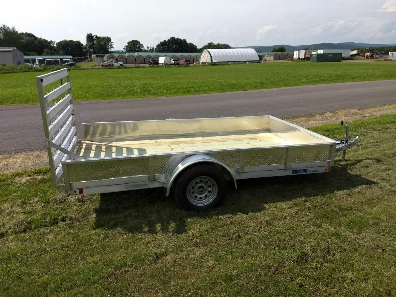 2019 Mission MU 80x12 WR 3K Solid Side Utility Trailer
