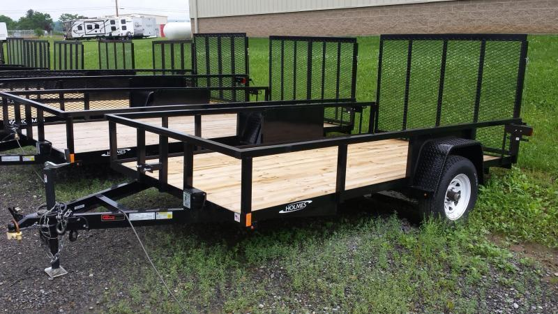 2019 Holmes 6-4x12 Commercial Open Side Rail 5k Utility Trailer