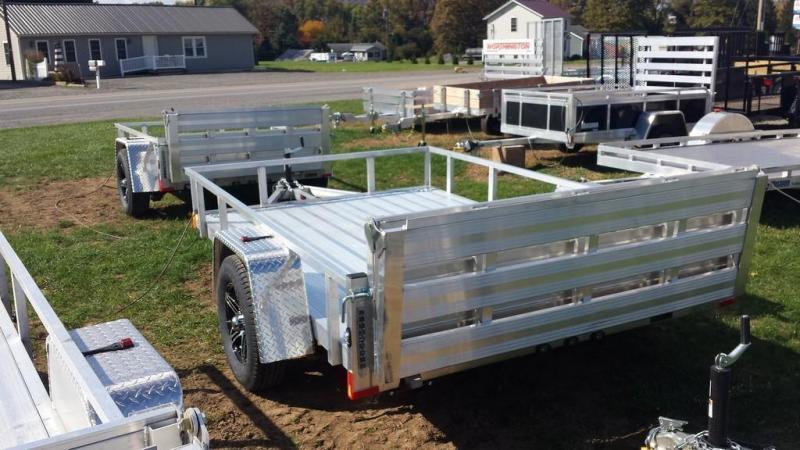 2020 Stealth Trailers 6-5x10 Alum Open Deck Rail Utility Trailer