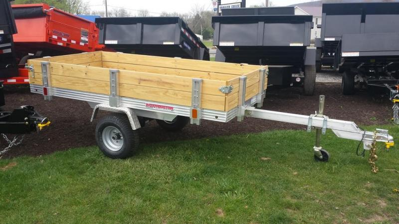2016 Worthington Trailers 4x8 Deckover Tilt Bed Utility Trailer