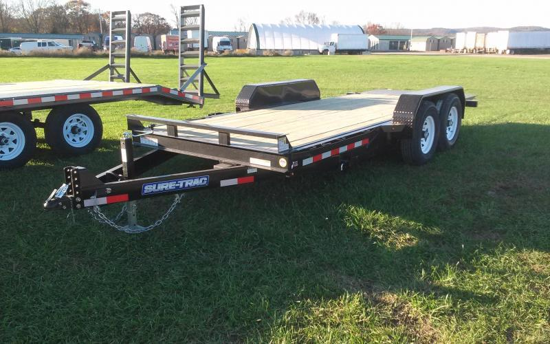 2018 Sure-Trac 7x18 tilt deck equipment trailer