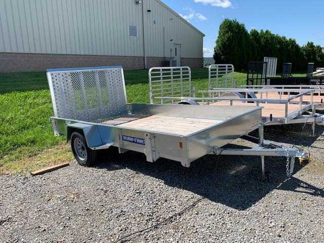 2019 Sure-Trac 7x12 Galvanized High Side Utility Trailer