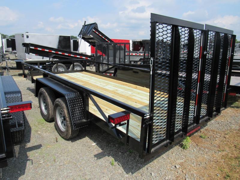 2020 Holmes 6-10x16 Commercial Open Side Rail 7k Utility Trailer