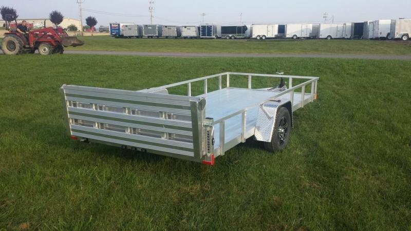 2018 Stealth Trailers 6-5x14 Alum Open Deck Rail Utility Trailer