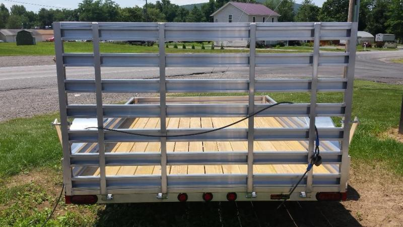 2018 Mission aluminum MU 80x10 DLW utility trailer -LED -3.5k