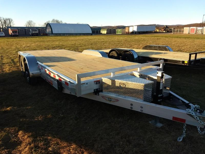 2019 H and H Trailer 7x20 10K Aluminum Power-Tilt Car / Racing Trailer