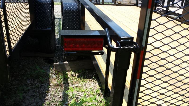 2019 Holmes 6-4x14 Commercial Rail Side Utility Trailer