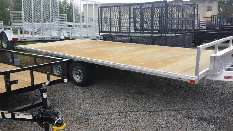 2016 Worthington Trailers 8x16 Aluminum Deckover 4 Place ATV Trailer