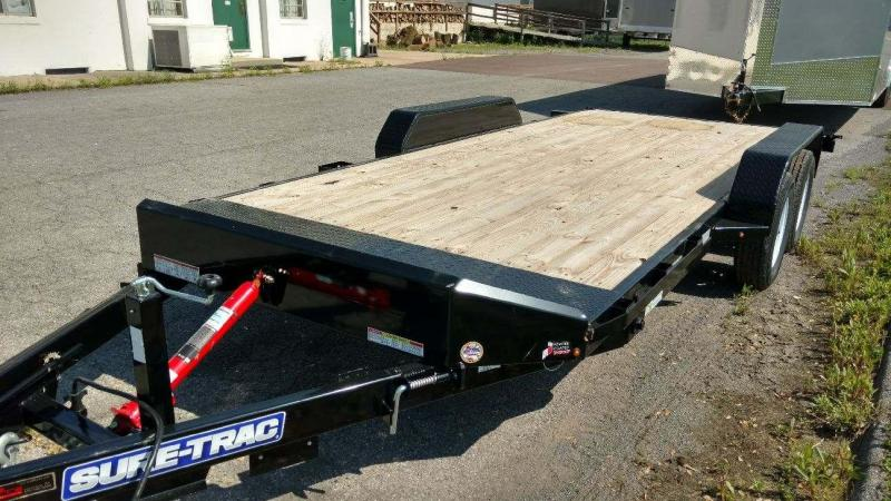2018 Sure-Trac 7X18 7k Tilt Car / Racing Trailer