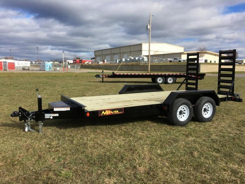2017 Midsota 7x16 Nova 10K Equipment Trailer in Plainfield, NH