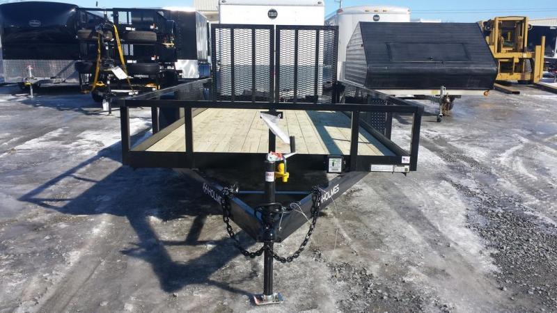 2018 Holmes 6-10x16 Commercial Open Side Rail 7k Utility Trailer