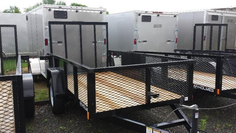 2019 Holmes 5x10 Commercial Mesh Side Utility Trailer