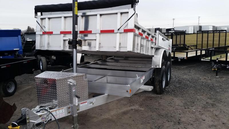 2019 Mission MODP 7x14 Aluminum 14K Dump Trailer