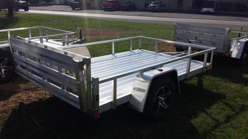 2019 Stealth Trailers 6-5x10 Alum Open Deck Rail Utility Trailer