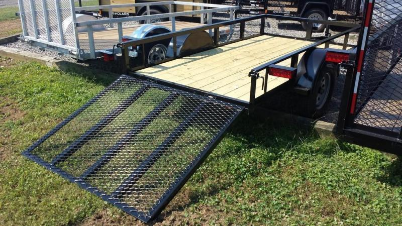 2018 Holmes 5x10 Open Rail Side Utility Trailer