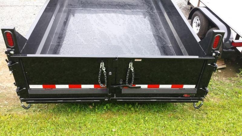 2019 Sure-Trac 7x12 low profile dump trailer -12k -ramps -scissor lift