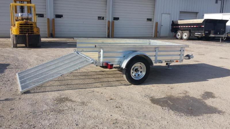 2017 Load Rite 5x8 Galvanized Solid Side Utility Trailer