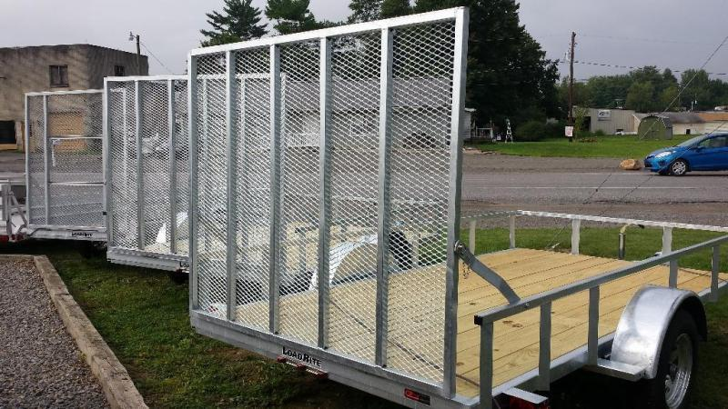 2018 Load Rite 6.5x12 Galvanized Open Side Utility Trailer