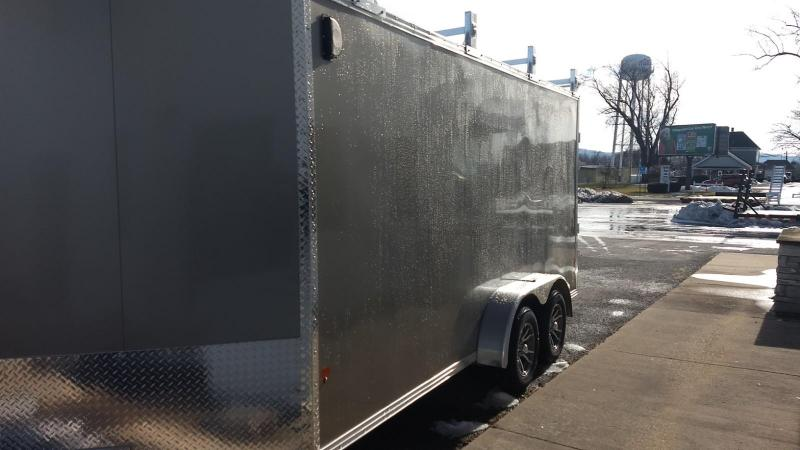 2019 Mission 7x16 all aluminum Enclosed Contractor Trailer