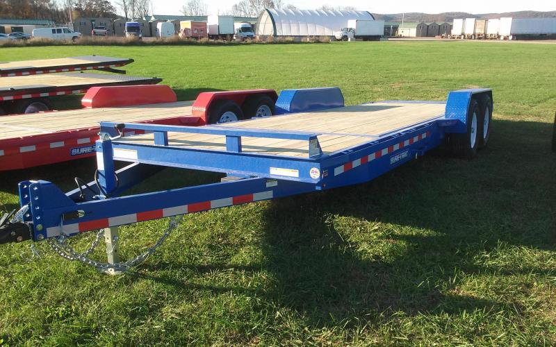 2018 Sure-Trac 7x18+4 partial tilt equipment trailer -14k -LED in Bennington, NH