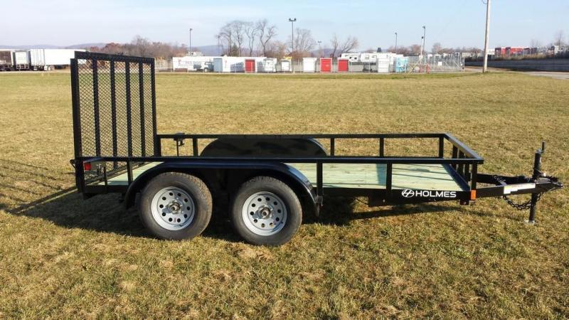 2018 Holmes 6-4x12 Open Side Rail 7k Utility Trailer