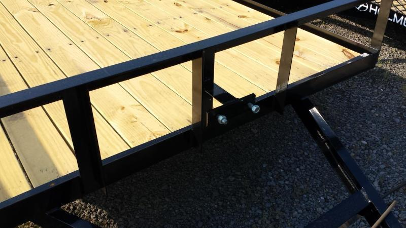 2019 Holmes 6-4x12 Open Side Rail Utility Trailer