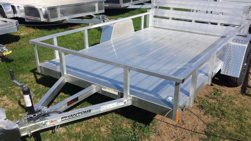 2018 Stealth Trailers 6-5x10 Alum Open Deck Rail Utility Trailer