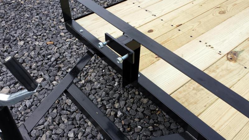 2018 Holmes 4x8 Open Side Rail Utility Trailer