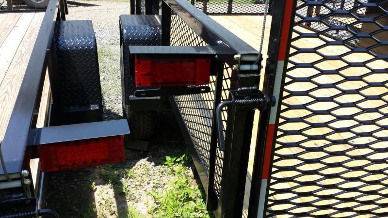 2017 Holmes 6-4x14 Mesh Side Utility Trailer