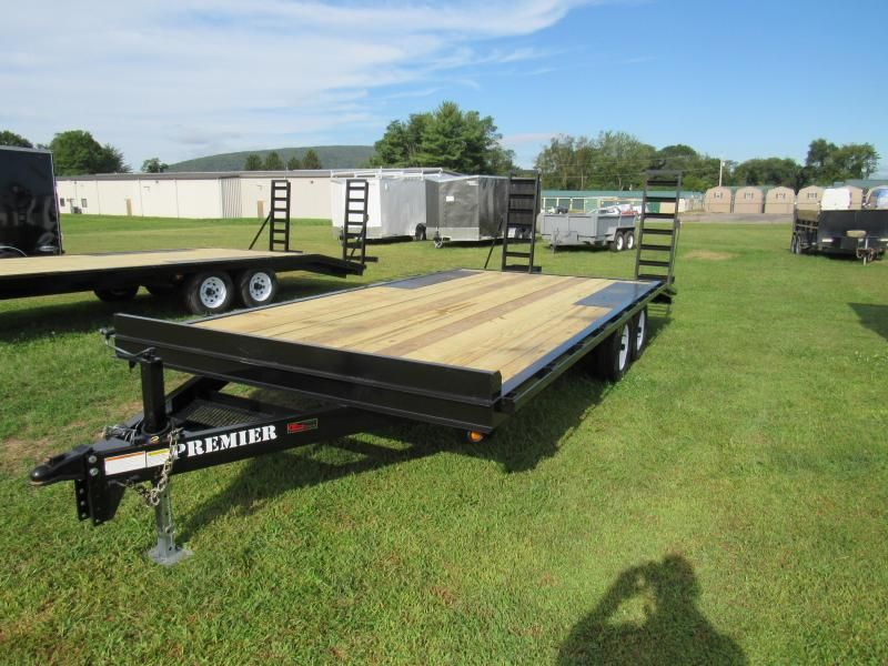 2019 Premier Trailers Inc. 20' (16+4) 10K Deck-Over Equipment Trailer