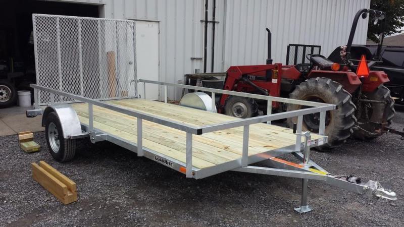 2019 Load Rite 6-5x14 Galvanized Open Side Rail Utility Trailer