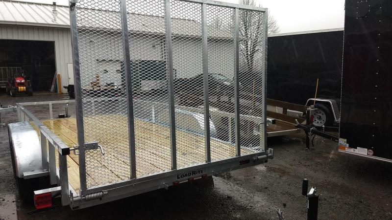 2019 Load Rite 6-5x16 Galvanized Open Side Rail Utility Trailer