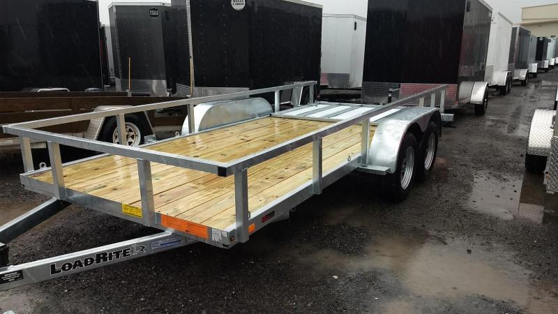 2019 Load Rite 6-5x16 Galvanized Open Side Rail Utility Trailer in Ashburn, VA