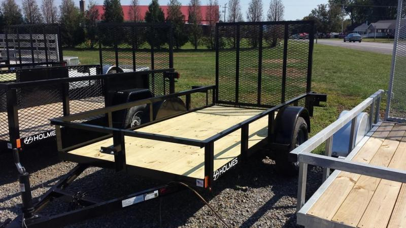 2019 Holmes 5x10 Open Rail Side Utility Trailer