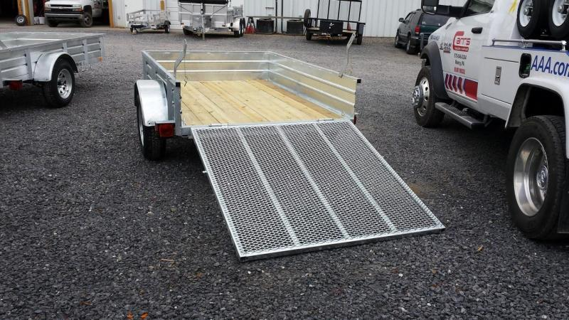 2018 Load Rite 5x10 Galvanized Solid Side Utility Trailer